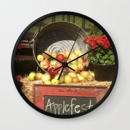 Apple Fest Wall Clock