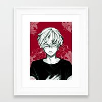 viria Framed Art Prints featuring Kaneki by viria