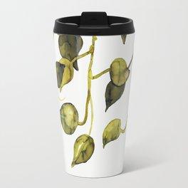 Golden Pothos - Botanical ink painting Travel Mug
