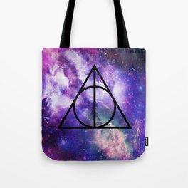 Deathly Hallows Galaxy Tote Bag