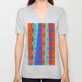 Multi Colored Geometric Forms Unisex V-Neck