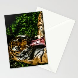 Lunchtime with the tiger Stationery Cards