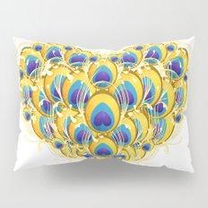 Peacock Heart Pillow Sham