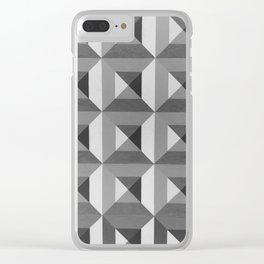 PURE geometry tiles 3D Clear iPhone Case
