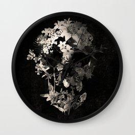 Spring Skull Monochrome Wall Clock