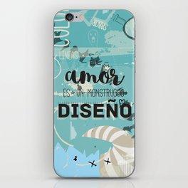 El amor es un monstruoso diseño! iPhone Skin