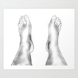 Spare Feet Art Print