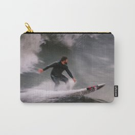 Surfer riding a wave Carry-All Pouch