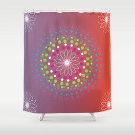 Dot Mandala Shower Curtain