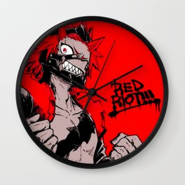RED RIOT / KIRISHIMA EIJIRO - MY HERO ACADEMIA Wall Clock
