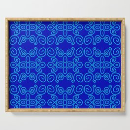 Indigo Batik Serving Tray