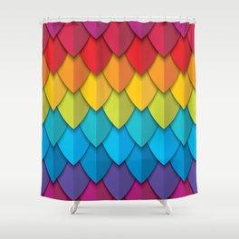 Feather Rainbow 1 Shower Curtain