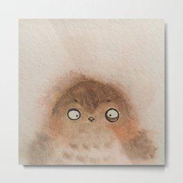 Fuzzy owlet Metal Print