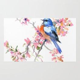 Bluebird and Cherry Blossom Rug