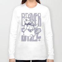 beaver Long Sleeve T-shirts featuring Beaver' Style by Kiwii Illustration