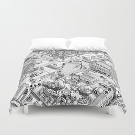 MacPaint project: NYC Duvet Cover