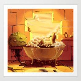 Lemonbath Art Print
