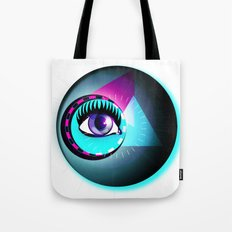 Halftone Eyeball Tote Bag
