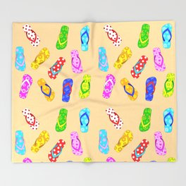Flip Flops Pattern Throw Blanket