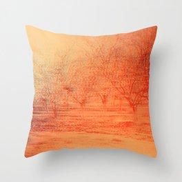 Almond Trees Throw Pillow