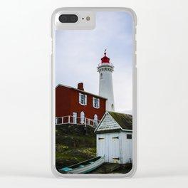 fisgard lighthouse Clear iPhone Case