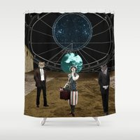 wolves Shower Curtains featuring Wolves  by Design4u Studio