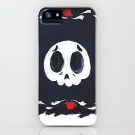 sad skull iPhone Case