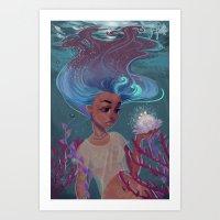 Girl of Water Art Print