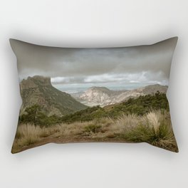 Big Bend Cloudy Mountaintop View - Lost Mine Trail - Landscape Photography Rectangular Pillow