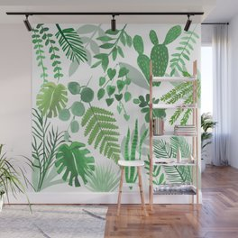 Houseplant Collage Wall Mural