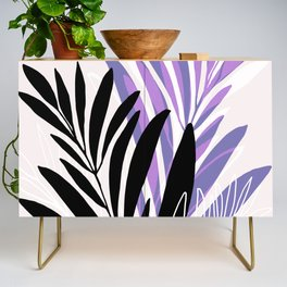 Lavender Olive Branches / Contemporary House Plant Drawing Credenza