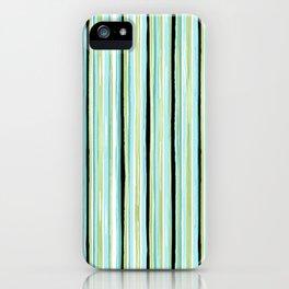 Watercolor Sea Glass Stripes iPhone Case