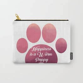 Warm puppy Paw for your Happiness - National Puppy Day Carry-All Pouch