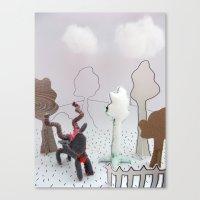 farm Canvas Prints featuring Farm by Kirsten zuiderbaan