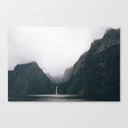 Milford Sound waterfall Canvas Print