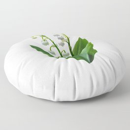 Lily of the Valley Floweret Floor Pillow