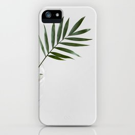 Minimalist Mid Century Modern Scandinavian Palm Leaf In Clear Glass iPhone Case
