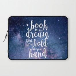 Neil Gaiman Quote Laptop Sleeve