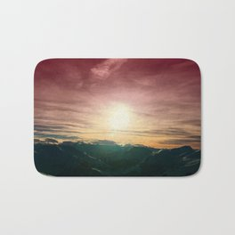 Mountain sunset Bath Mat