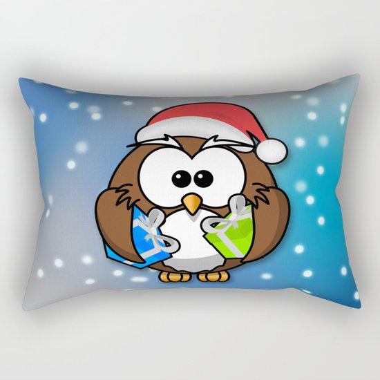 Christmasowl Rectangular Pillow