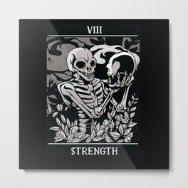 Strength Tarot Card Design Metal Print