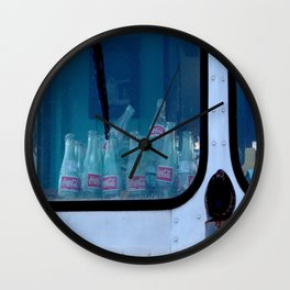 Empty Bottles Empty Dreams Wall Clock