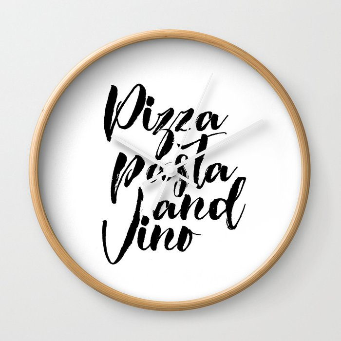 graphic about Pizza Printable identify PRINTABLE POSTER, Pizza Pasta And Vino, Bar Decor,Pizza Store Decor,Cafe Wall Clock as a result of nathanmoore209