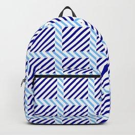 optical pattern 70 blue Backpack