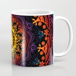 'Bohemian Summer' Multi-Coloured Mandala Coffee Mug
