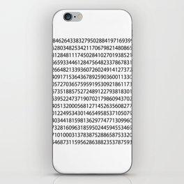 1000 digits of Pi (White) iPhone Skin