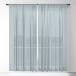 Calming Pale Denim Blue Pairs With Clare Paint Good Jeans 2020 Color of the Year Sheer Curtain