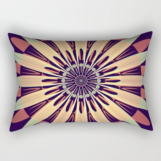 Graphic Floral Design Rectangular Pillow