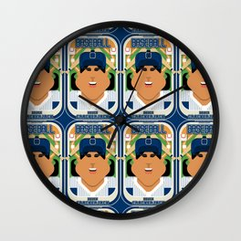 Baseball Blue Pinstripes - Deuce Crackerjack - Indie version Wall Clock