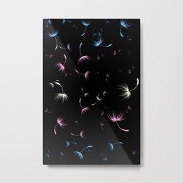 Dandelion Seeds Transgender Pride (black background) Metal Print